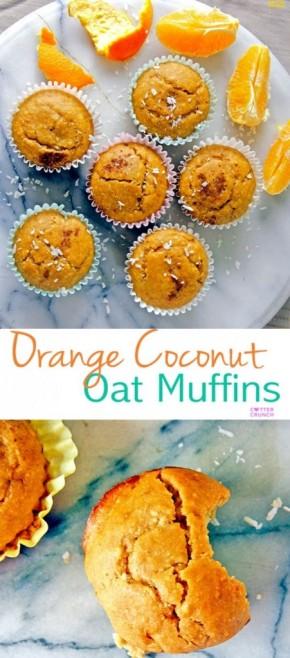 Naturally Sweet Orange Coconut OatMuffins